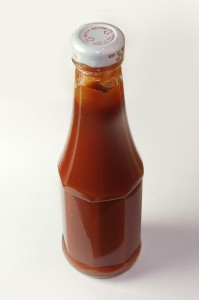 bottle of ketchup